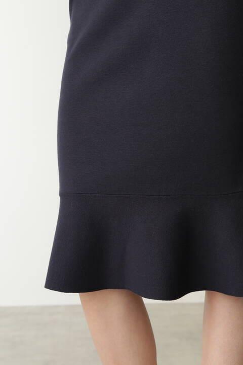 ペプラムニットスカート