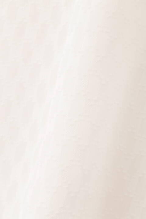 【先行予約 2月中旬-下旬入荷予定】カットジャガードスタンドカラーブラウス