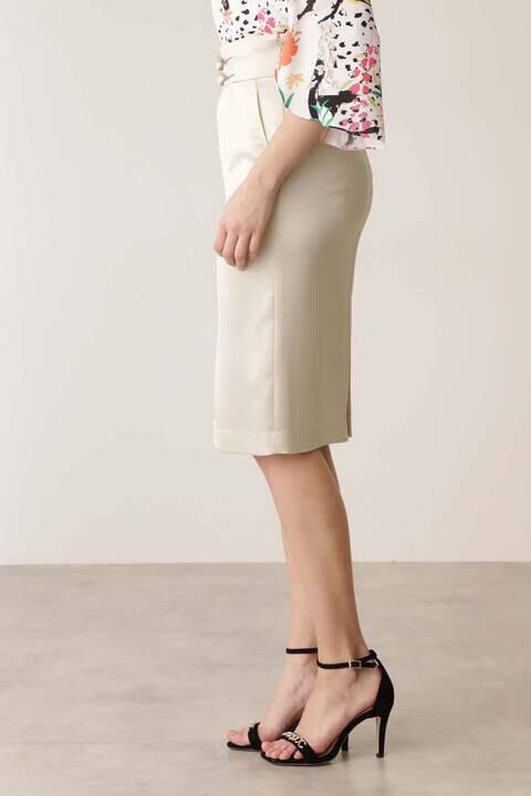 ハンマーサテンセットアップスカート