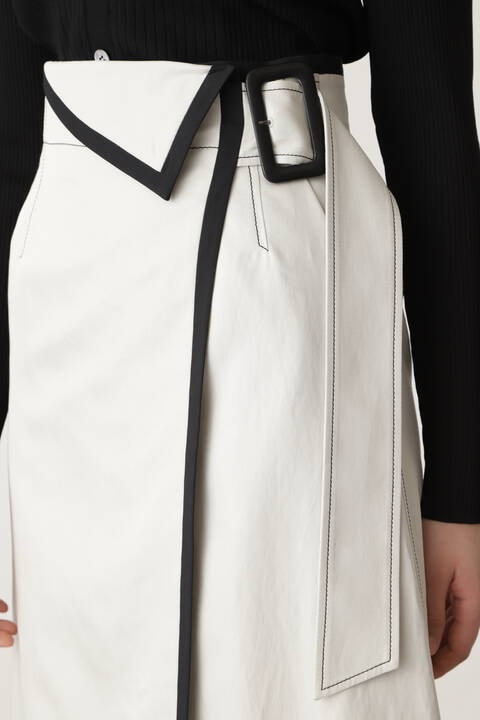【先行予約 3月中旬-下旬入荷予定】フォールディッド配色スカート