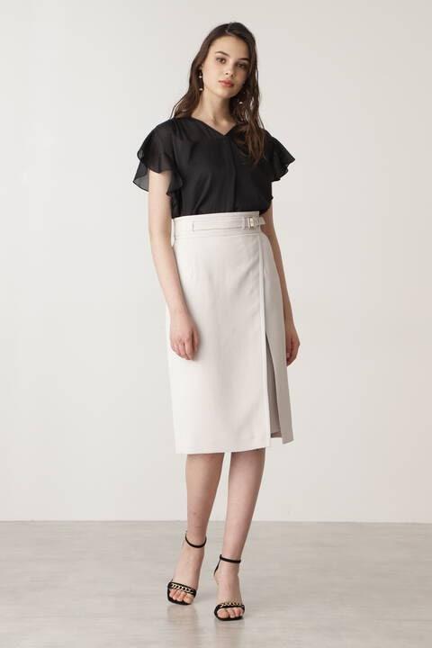 ベルトデザインタイトスカート