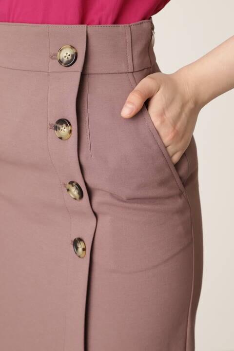 サイドボタンステッチスカート