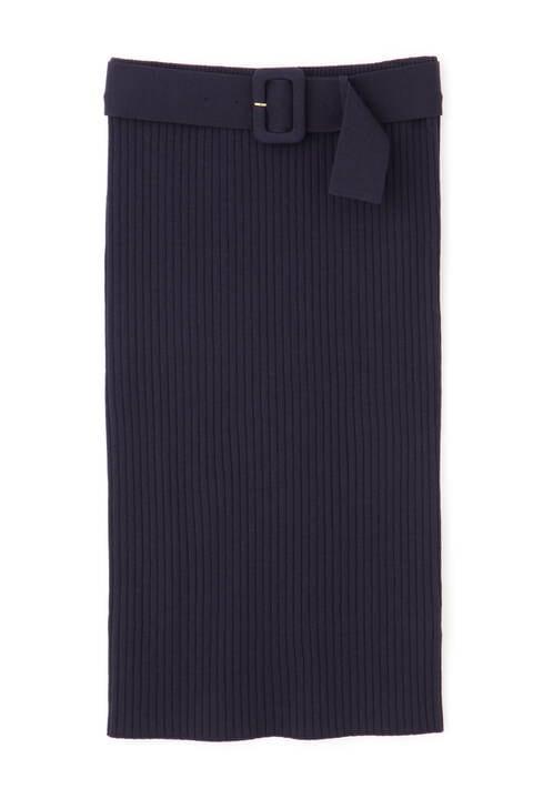 【先行予約 2月中旬-下旬入荷予定】ベルト付きセットアップRIBニットスカート