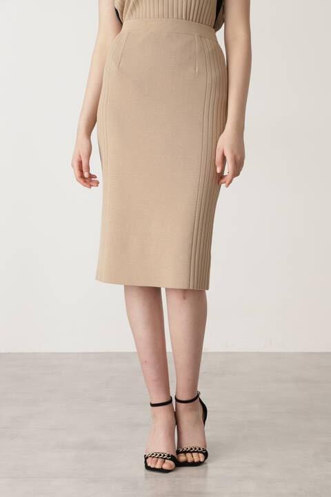 サイドRIBニットスカート