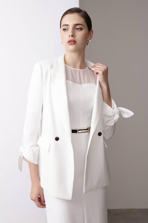 タックリボンテーラードジャケット