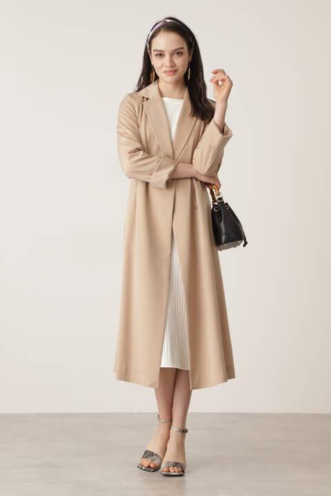 キュプラサテンカラーコート