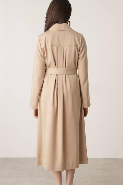 【先行予約 2月中旬-下旬入荷予定】キュプラサテンカラーコート