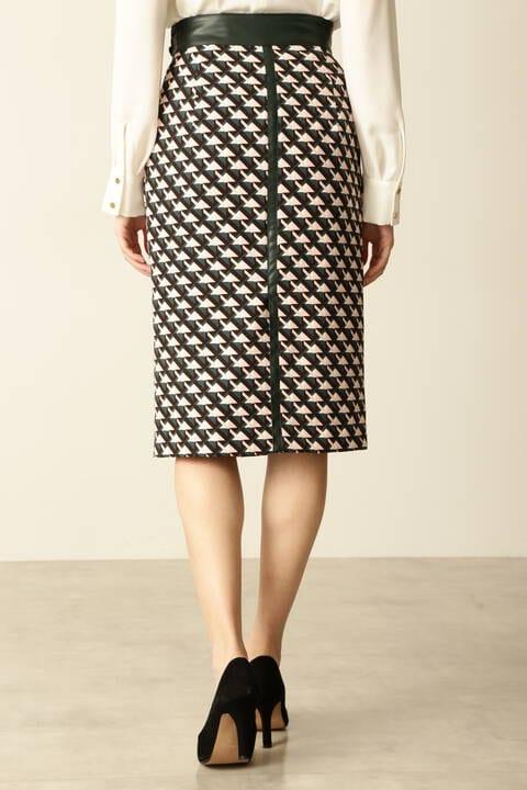 【先行予約 10月上旬-中旬入荷予定】ジオメトリックプリントスカート