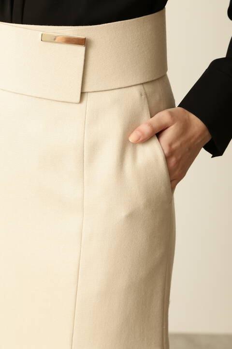 ベルト付きバックマーメイドスカート