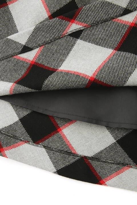 【先行予約 10月下旬-11月上旬入荷予定】ブロックチェックタックフレアスカート