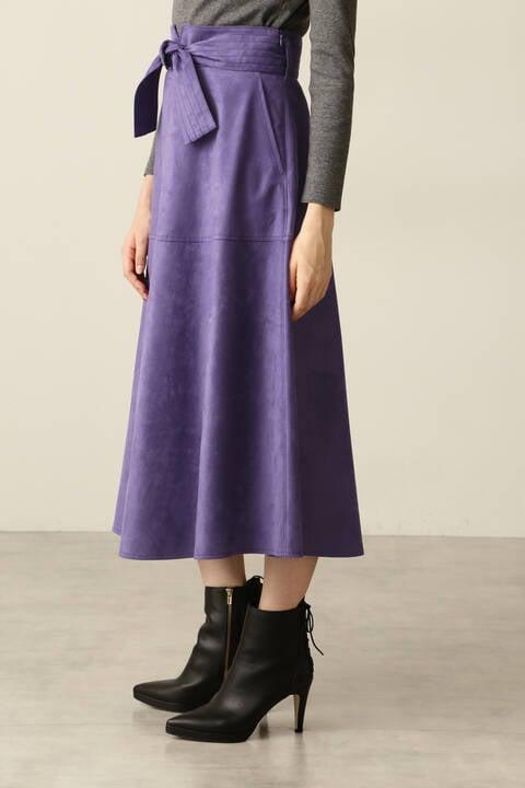 【先行予約 11月上旬-中旬入荷予定】フェイクスエードフレアスカート