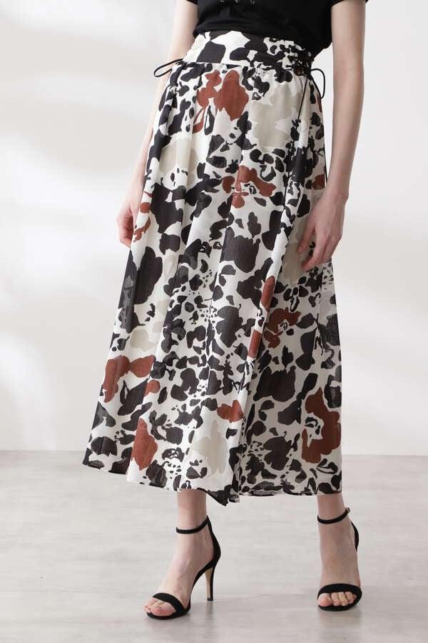 カラーミックスアニマルプリントスカート