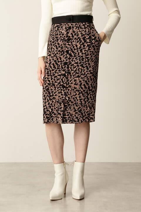 レオパードプリントスカート