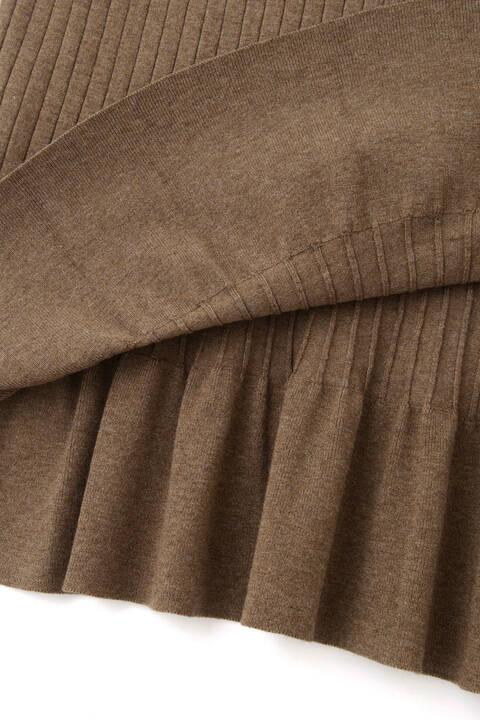 【先行予約 10月上旬-中旬入荷予定】リブニットセットアップスカート