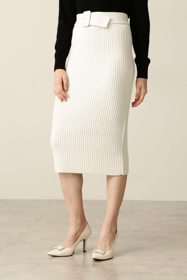 【先行予約 11月下旬-12月上旬入荷予定】ニットアップリブスカート