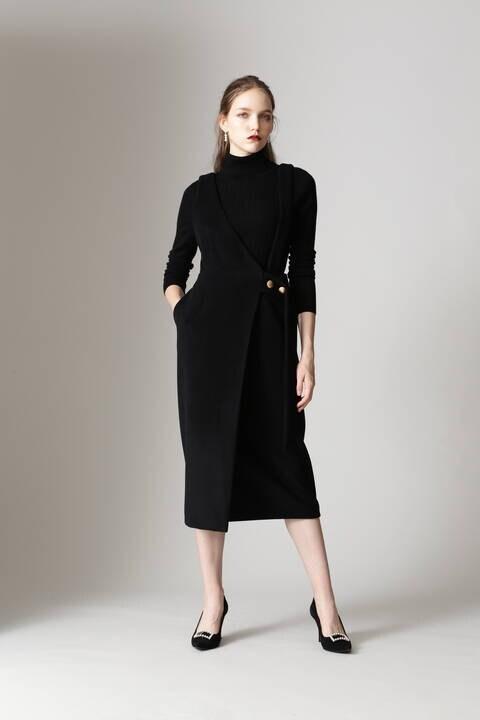 【先行予約 11月上旬-中旬入荷予定】アシンメトリージャンパースカート