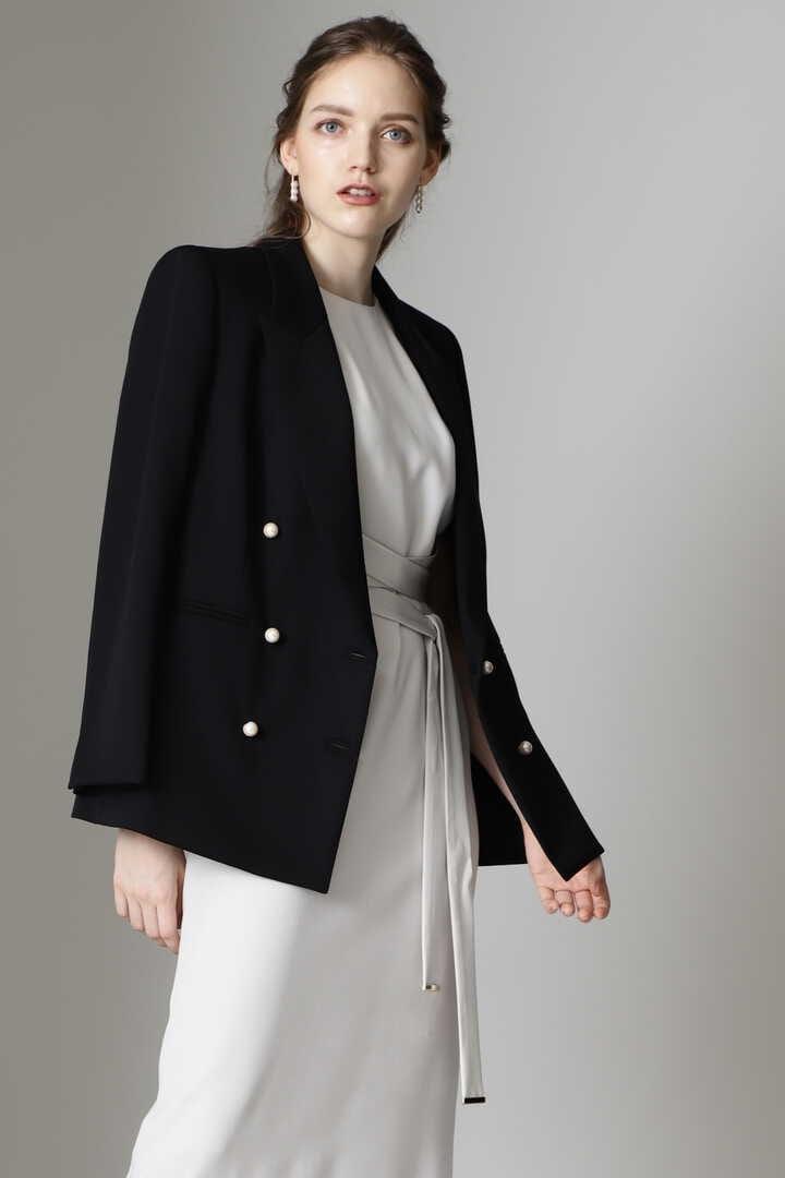 パールボタンダブルブレストジャケット
