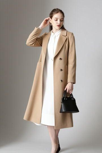 【先行予約 10月上旬-中旬入荷予定】カシミヤベルテッドコート