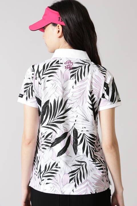 リーププリント半袖ポロシャツ