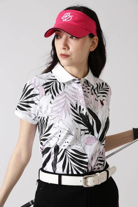 【先行予約 9月上旬-中旬入荷予定】リーププリント半袖ポロシャツ