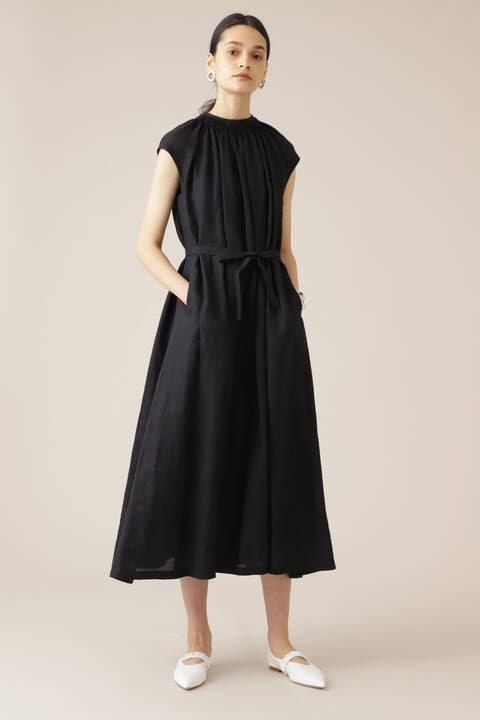 リネンロングドレス