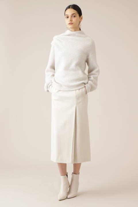 ウールメルトンタイトスカート