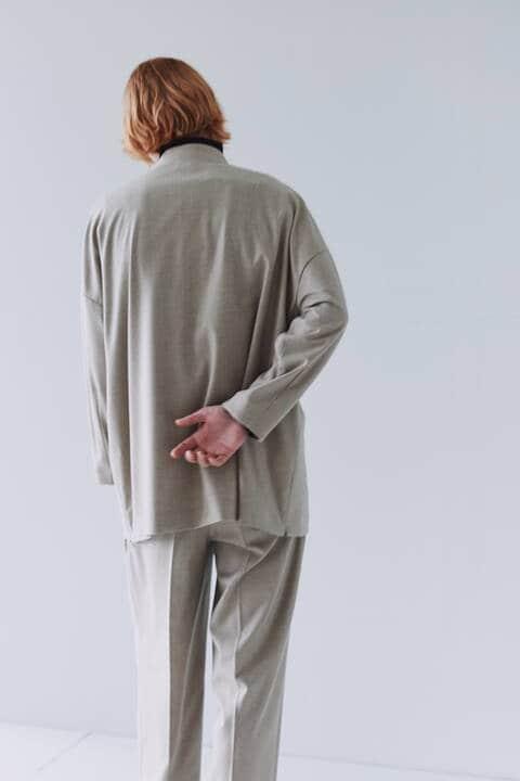 【先行予約 11月上旬-中旬入荷予定】FOR GENDER FREE スーパー140サキソニーシャツ