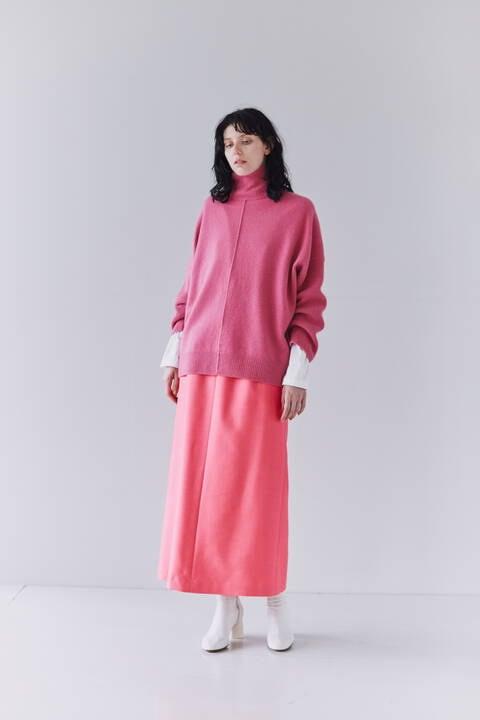 【先行予約 11月上旬-中旬入荷予定】シルクウールツイルスカート