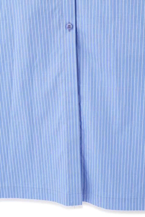 ファインストライプシャツワンピース