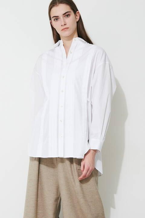 コットンタックシャツ