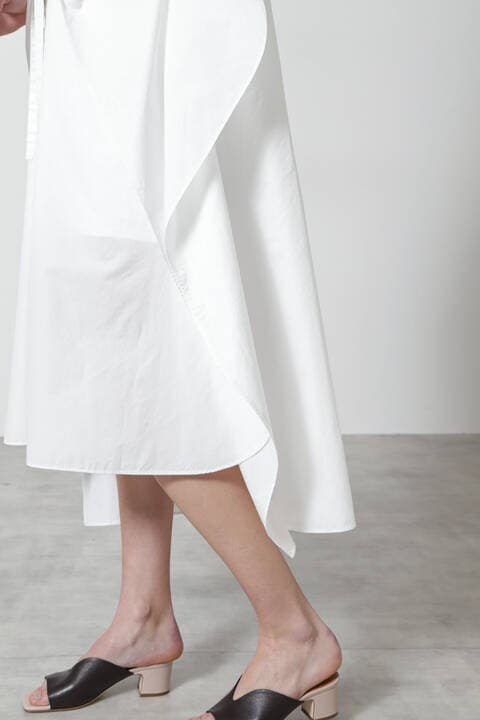 ブロードアシンメトリーシャツ
