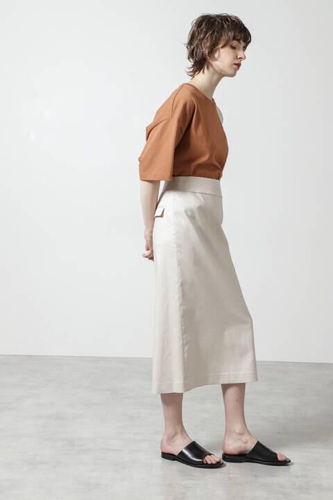 シャンブレーへリンボンスカート