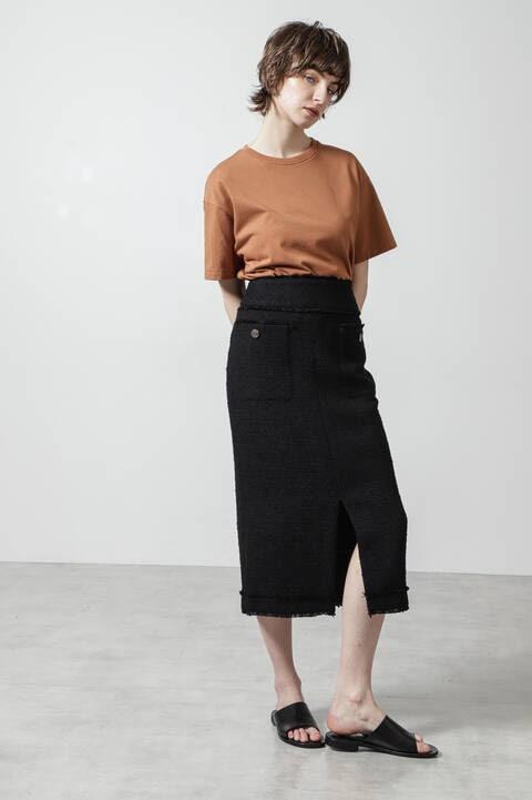スラブツィードスカート
