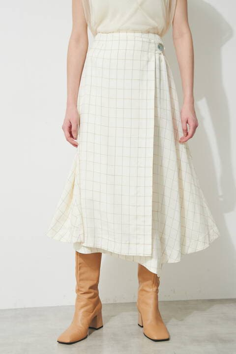 タンブラーチェックセットアップスカート