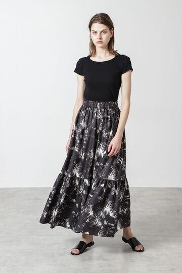 サマープリントフレアスカート