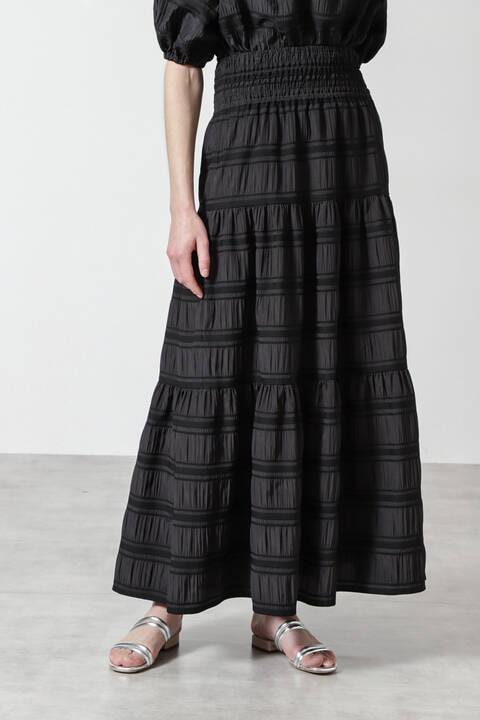 【先行予約 4月上旬-中旬入荷予定】ギャザージャカードスカート