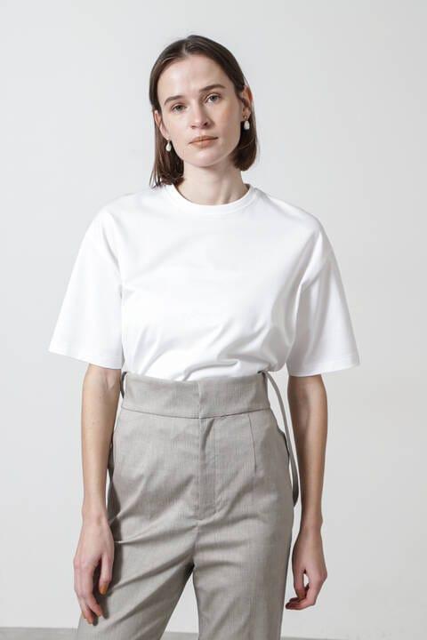 天竺ラウンドネックTシャツ