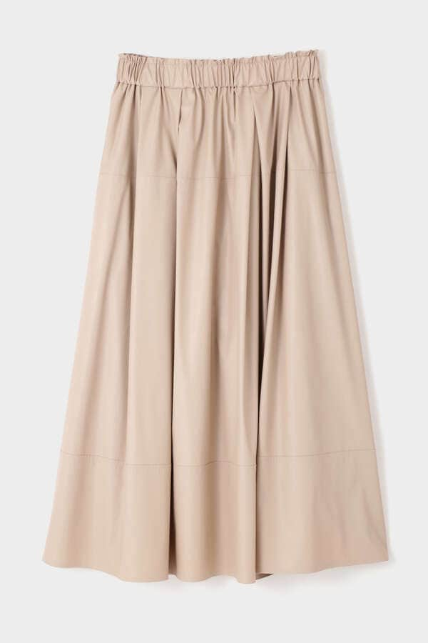 ライトフェイクレザースカート