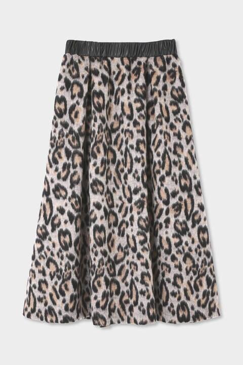 【先行予約 11月上旬-中旬入荷予定】レオパードシャギースカート