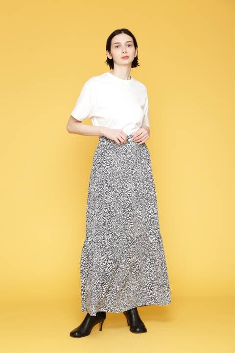 トライアングルドットプリントスカート