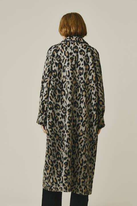【先行予約 11月上旬-中旬入荷予定】レオパードシャギーコート