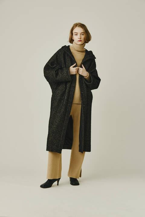【先行予約 11月上旬-中旬入荷予定】スラブヘリンボンコート
