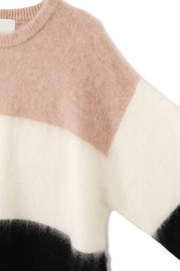 esta'nder / Brashed Mohair Border Knit