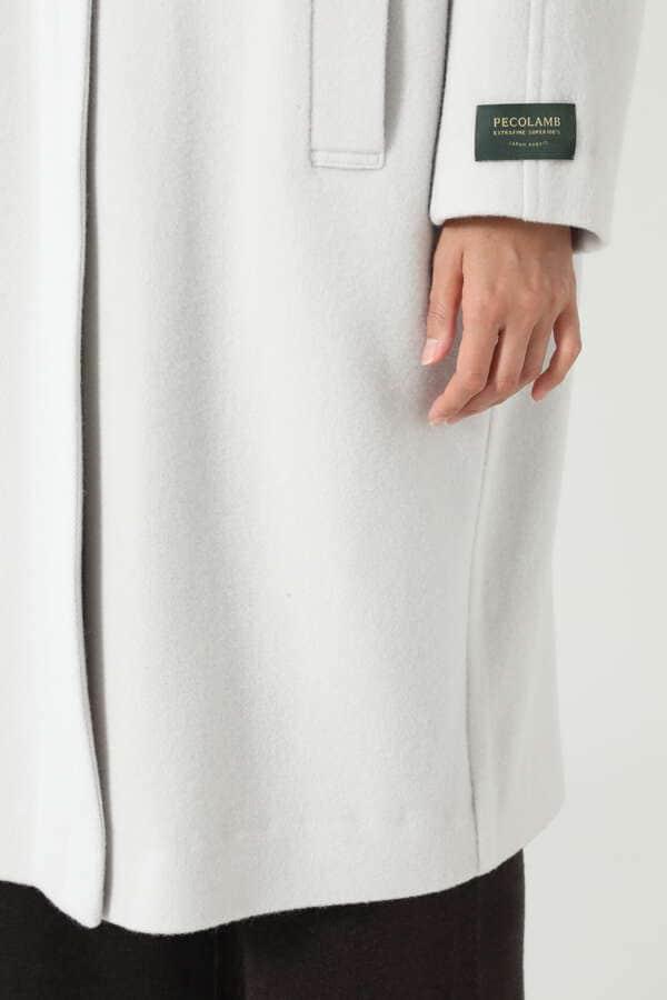 クルーネックノーカラーコート