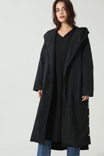 2wayパディングフーデッドコート