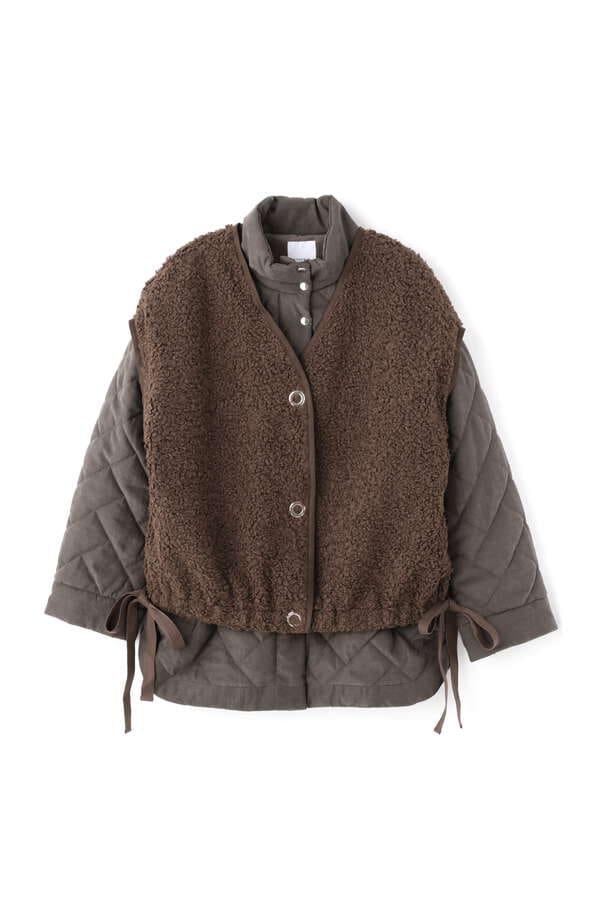 ボアベスト付き中綿ジャケット