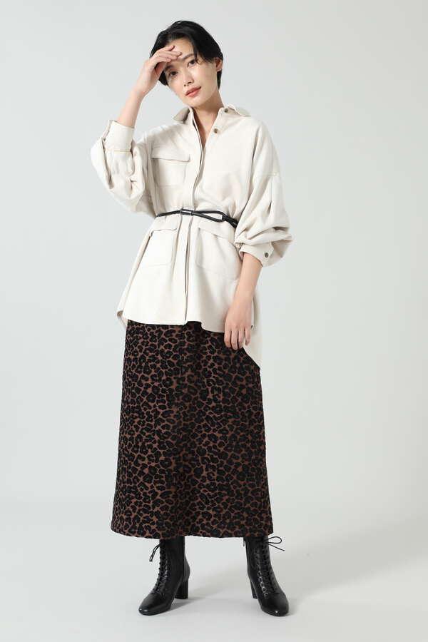 フェイクスエードフレアスカート