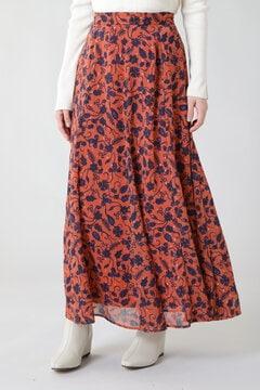ペイズリーフレアスカート