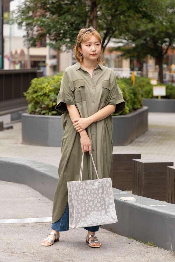 ミリタリーシャツドレス