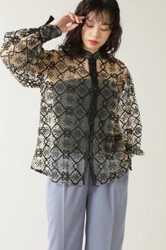 刺繍チャイナブラウス